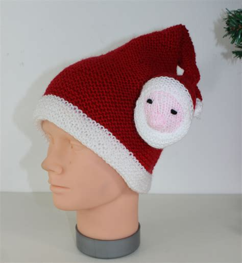childrens santa head hat 04 madmonkeyknits knitting patterns