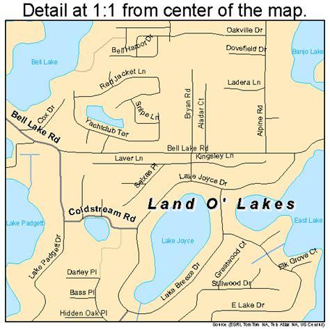 land of lakes florida map land o lakes florida map 1239200