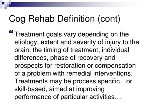 Detox Therapy Meaning by Ppt Cognitive Rehabilitation Is Medically Necessary