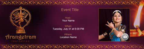 Free Arangetram Invitation With India S 1 Online Tool Arangetram Invitation Templates