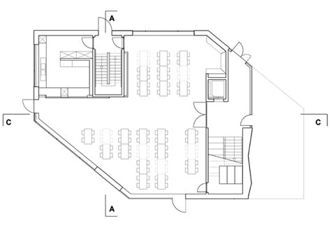 school cafeteria floor plan polygonal geometry elementary school in berlin detail
