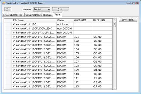 Yakami Dicom Tools Free Dicom Viewer Converter Etc Table Maker