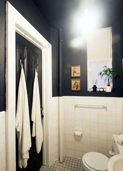 black painted bathroom black bathroom with high ceilings bathrooms pinterest