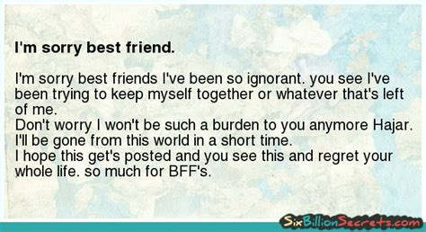 A Apology Letter To Your Best Friend Best Friend Apology Quotes Quotesgram