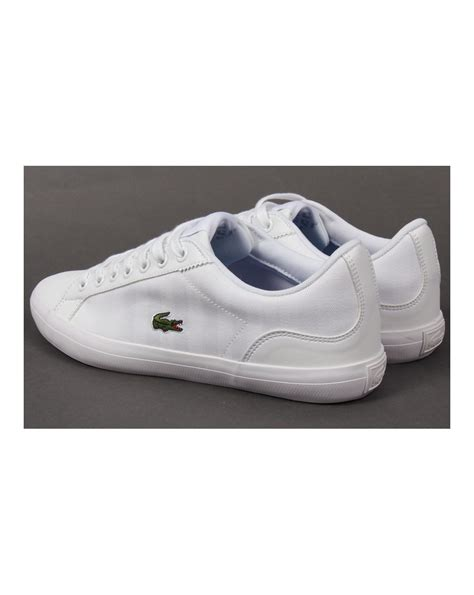 Lacoste Lerond Trainers In White lacoste lerond canvas trainers white white lacoste