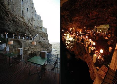 grotta palazzese hotel unique seaside restaurant in a cave in southern italy