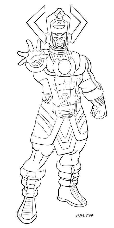 marvel thanos coloring pages galactus lines by hulkdaddyg on deviantart