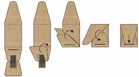 How To Make Paper Gadgets - boardy usb stick made from recycled paper for green gadget
