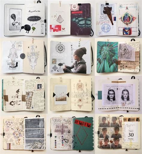 design visual journal journals collage and composition on pinterest