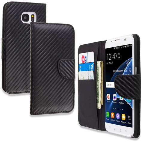 card accessories for samsung galaxy s7 edge executive wallet flip id card slots accessories ebay