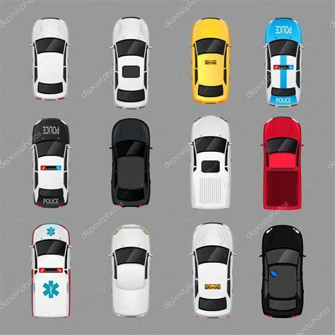 pixel car top view vue de dessus de voitures ic 244 nes image vectorielle