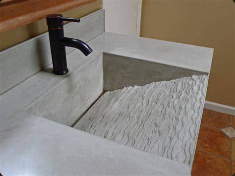 linear drain bathroom sink concrete pete contour r sink
