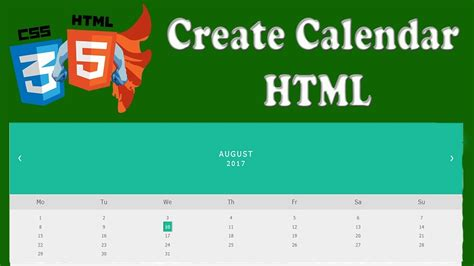 construct 2 html5 tutorial create a calendar in html5 css html5 and css3 beginners