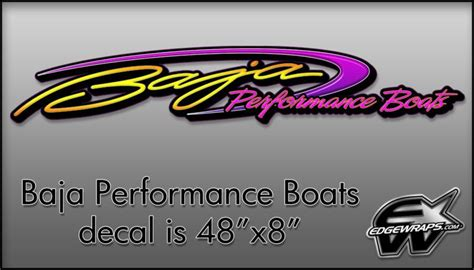 baja boat decals find new baja performance boat trailer truck decal 48 quot x