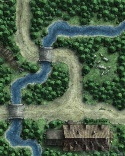 D D Mats by Paizo Gamemastery Flip Mat Forest Path