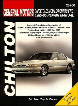auto manual repair 2005 buick century free book repair manuals buick oldsmobile pontiac fwd repair manual 1985 2005 chilton