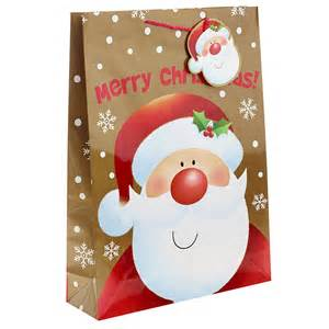 happy santa wishes you a merry christmas gift bag extra