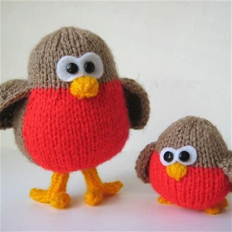 free knitting pattern christmas robin christmas amanda berry