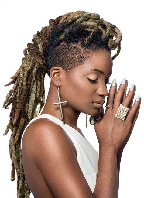 back of head shaved sides dreads 20 awesome undercut hairstyles for women