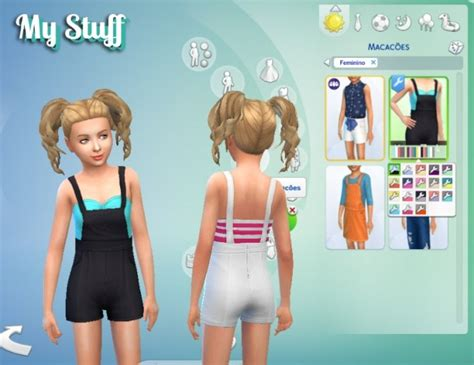 sims 4 overall shorts shorts overall for girls at my stuff 187 sims 4 updates