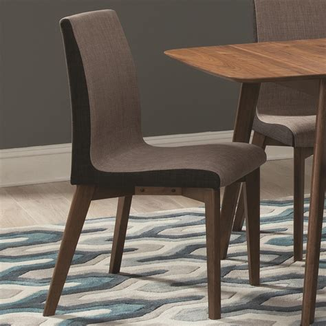 coaster dining chairs coaster redbridge dining side chair with curved back