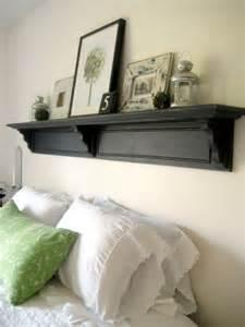 Shelf Headboard Ideas Diy Headboard Shelf Shelterness