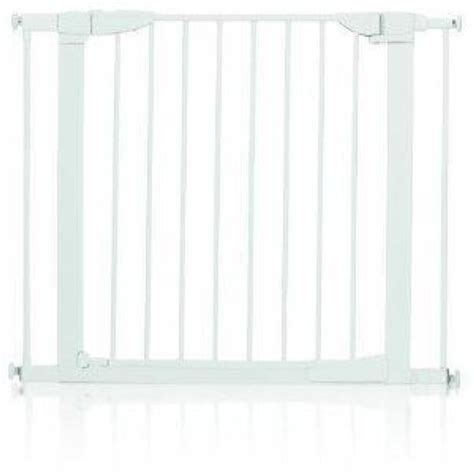 baby gate with swing door munchkin auto close metal baby gate white swinging door ebay