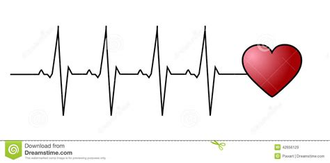 love heart beat stock vector illustration of