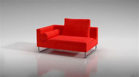 modern red sofa modern red sofa with accent pillow 3d model cgtrader com