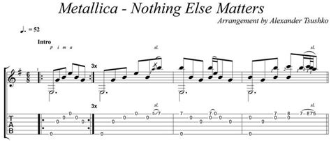 nothing else matters guitar pro metallica nothing else matter скачать dshimolodegka
