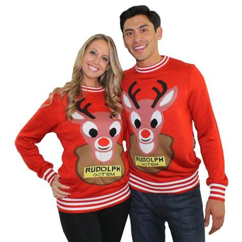 Sweaters For Couples by Sweaters Mounted Rudolph With Reindeer