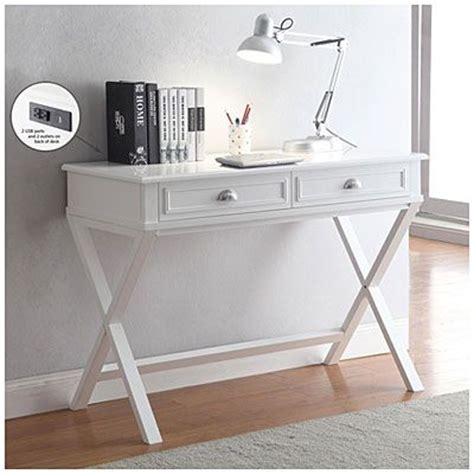 small white desks for bedrooms 2 drawer writing desk 159 99 create a space saving office