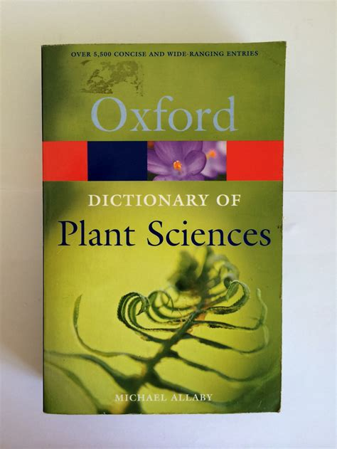 dictionary of plant sciences 187 bookworld zambia online