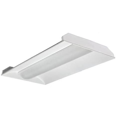 2 Foot T8 Fluorescent Light Fixtures Lithonia Lighting 2 Ft X 4 Ft 2 Light White Volumetric