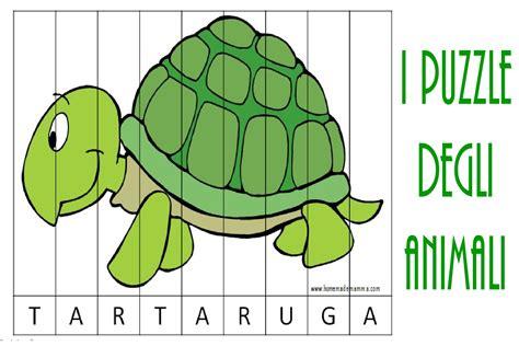 comporre parole con lettere i puzzle degli animali per imparare le parole
