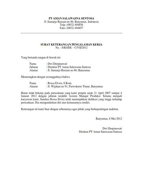 contoh surat pengalaman kerja referensi paklaring review