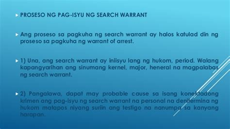 Ano Ang Search Warrant Search Warrant