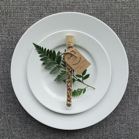 Custom tea   test tube wedding favour / bonbonniere filled
