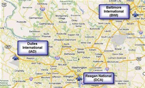 washington dc map showing airports washington dc airport map adriftskateshop