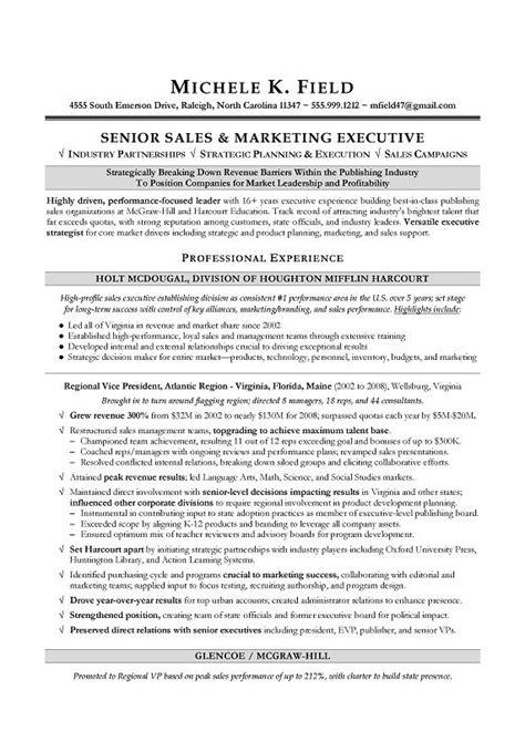 sle of resume writing regional vp sales sle resume executive resume writing