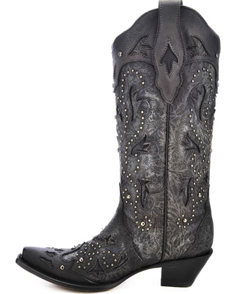 corral womans boots corral s studded embossed boots snip toe