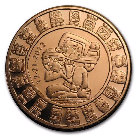 Calendario Azteca Fin Mundo Moneda Onza De Cobre Calendario Fin Mundo 12