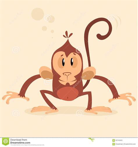 new year monkey characters vector monkey mascot new year character stock vector