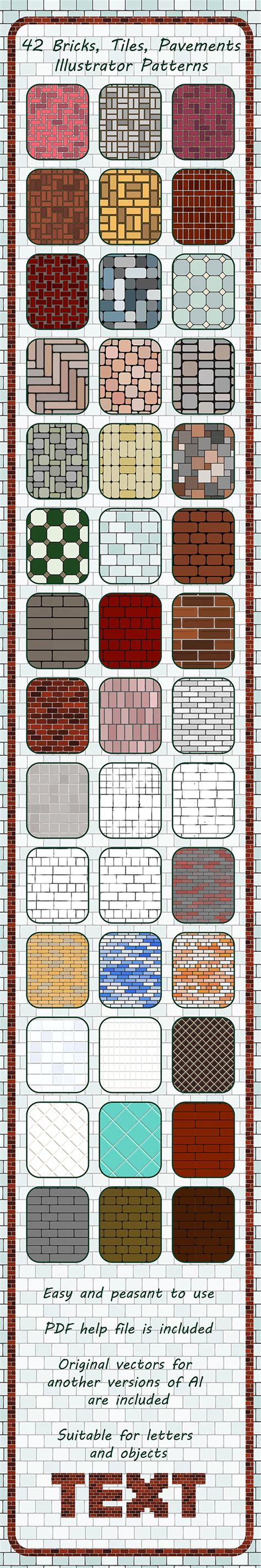 illustrator pattern move tile with art 42 bricks tiles pavements seamless adobe illustrator