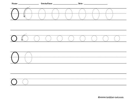 O Worksheets Free by Tracing And Writing Letter O Worksheet