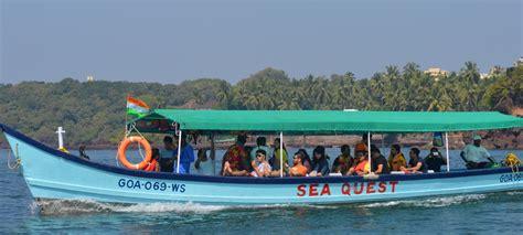 boat cruise in south goa grand island trip with snorkeling grande island trip goa