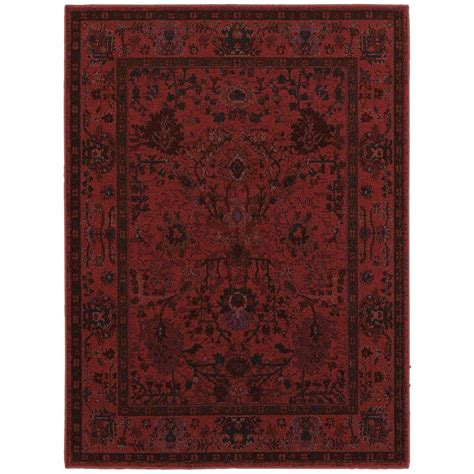 home accent rug collection home decorators collection overdye red 1 ft 10 in x 3 ft