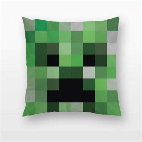 minecraft creeper throw pillow shut up and take money
