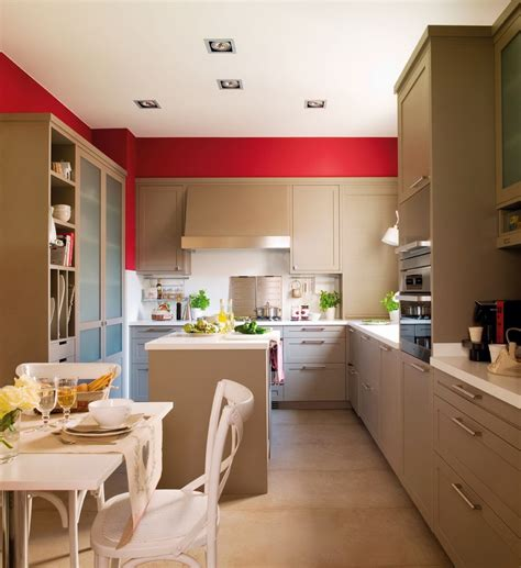 modern beige kitchen design with walls digsdigs