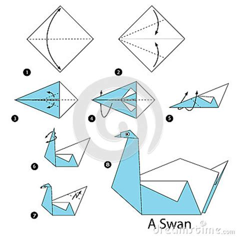 How To Make A Paper Swan - step by step how to make origami a swan